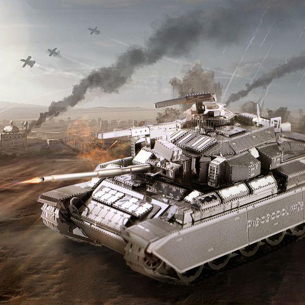 wholesale 3D Metal Puzzle Toy DIY Building Kit Tank Model Centurion AFV Military Tanks Decoration Toys For Children Gift