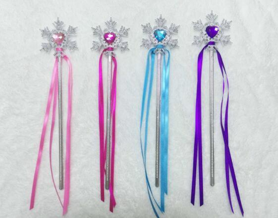DHL Fairy Wand Ribbons Streamers Christmas Wedding Party Snowflake Gem Sticks Magic Wands Confetti Party Props Decoration Events Favors