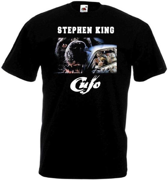 Cujo v.4 T-Shirt schwarz Filmplakat alle Größen S-3XL Hochwertige Männer T Shirt Top T-Shirt Kurzarm Print Letters