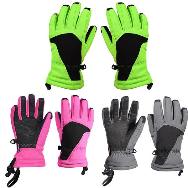 1 Pair Water Resistant Windproof Snow Ski Glove Warm Insulation Technology With Touch Screen Design Winter Gloves For Children