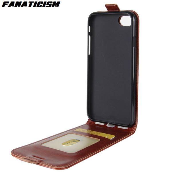 Fanatismus flip leder case für iphone xr x xs max 7 8 plus samsung s10 note leder vertikale telefonabdeckung mit kartenhalter