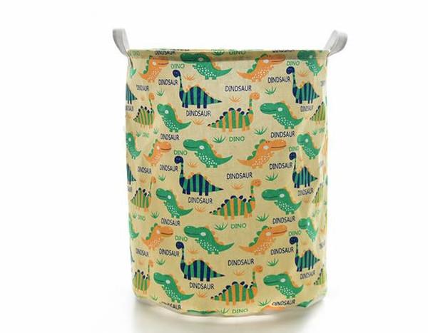 Cartoon Dinosaur Laundry Hamper Storage Bin Baskets Ocean Animal Foldable Laundry Basket for Organizing Kids Toy Bin/Closet /Shelf Baskets