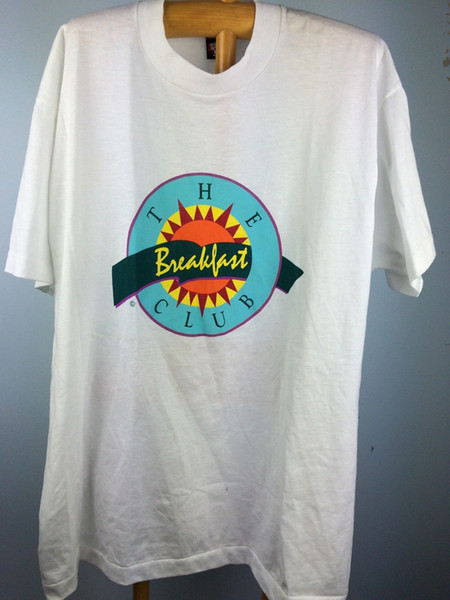 VTG Mens XL The Breakfast Club T Shirt Screen Stars 80's 50/50 Made In USA MovieFunny free shipping Unisex Casual