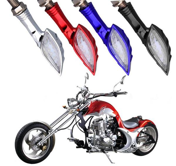 Indicatore di direzione di moto universale 4 colori 12 LED SMD Indicatore lampeggiante Flash Bike Lamp Luci GGA265 120PCS