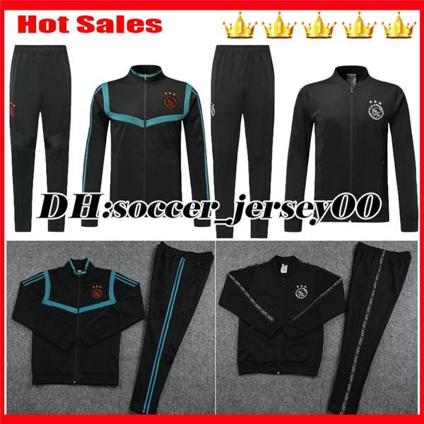 Новый тренировочный костюм 2019 Ajax Soccer Jerseve Survetement 19 20 Тренировочный костюм TADIC NOURI DOLBERG Футбольная куртка, брюки, рубашки