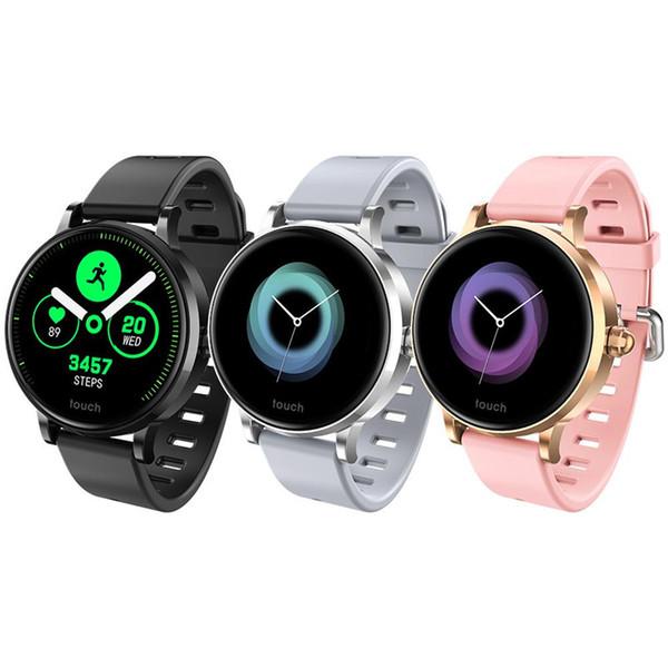 Reloj inteligente S9 Presión arterial SmartWatch Frecuencia cardíaca Hombres IP67 Mujer Pulsera inteligente a prueba de agua para Xiaomi Apple IOS
