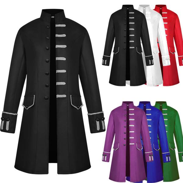 Steampunk Herren Jacke Gothic Vintage Mantel Cosplay Großhandel Mittelalterlichen Kostüm Outwear Halloween Top Renaissance Steampunk Viktorianischen rdhQts