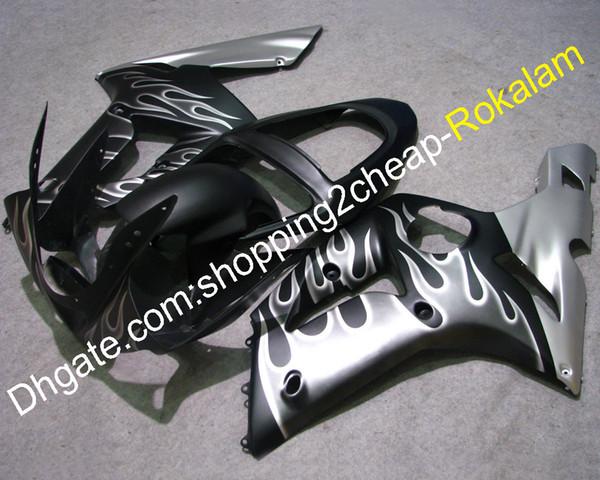 Acessórios da motocicleta para Kawasaki Carenagem 2003 2004 ZX6R ZX 6R 636 ZX-6R Kit de capota do corpo (moldagem por injeção)