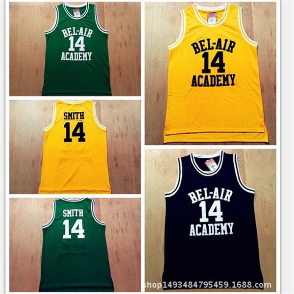 Movie version of Will Smith's 14 black, yellow, green, 25 yellow net-eye basketball uniform