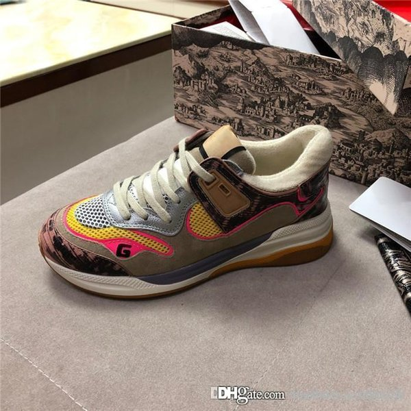 The most fashionable new calfskin luminous casual shoes, Lovers outdoor sports shoes essential for hipsters single item size 35-40