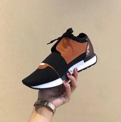 Nuovo arrivo uomo donna in pelle nera con patchwork in mesh scarpe casual moda sneakers, scarpe classiche da uomo di marca amanti del tempo libero 35-45