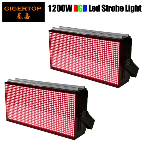 Gigertop 2 units 1200W LED RGB Disco Colorful Strobe Stage Lighting Effect DJ Bar Holiday Party Christmas DMX Sound Lights