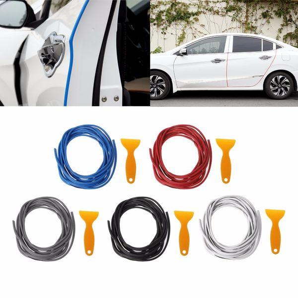 Auto Antikollisions Seitentür Kantenschutz Gummi Stoßstangenschutz Aufkleber Streifen 5m Mit Kunststoffschaufel Car Styling Decor C45