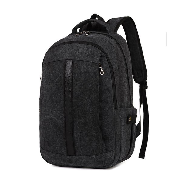good quality Casual Canvas Backpack Men Rucksack Multifunction Travel Mochila College Student School Bags For Teenagers Back Pack