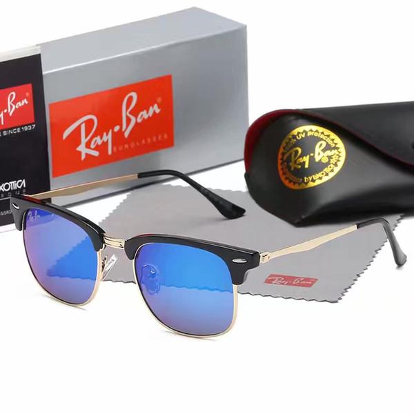 Nueva moda gafas de sol clásicas actitud gafas de sol marco dorado marco de metal cuadrado estilo vintage diseño al aire libre modelo clásico 0259 caja