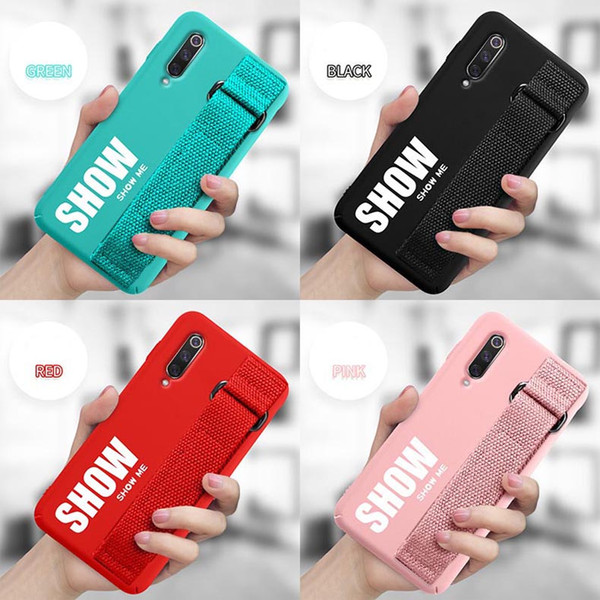 Premium Cellphone Case TPU With Wristband Cover Fashion Design Protector for XIAOMI 8 9 8SE 9SE Mobile Phone Case with Personality Bracket