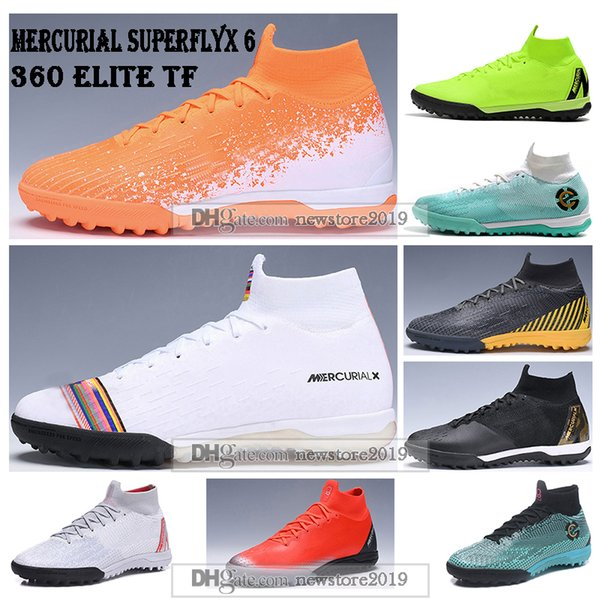 Mens High Tops Football Boots LVL UP Superfly 6 Elite TF Soccer Shoes CR7 Mercurial SuperflyX VI Neymar ACC Indoor Turf Soccer Cleats