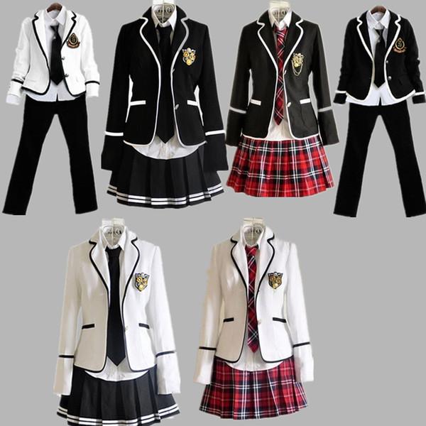 2018 New School Uniform Set College Wind Schoolchildren Japan JK England Class Suit jk Uniform suit SH190908