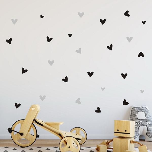 22 unids / set Pequeño Amor Decoración Del Corazón Etiqueta de La Pared Decal Dormitorio Vinilo Arte Mural Decoración Del Hogar Tatuajes Extraíble Poster