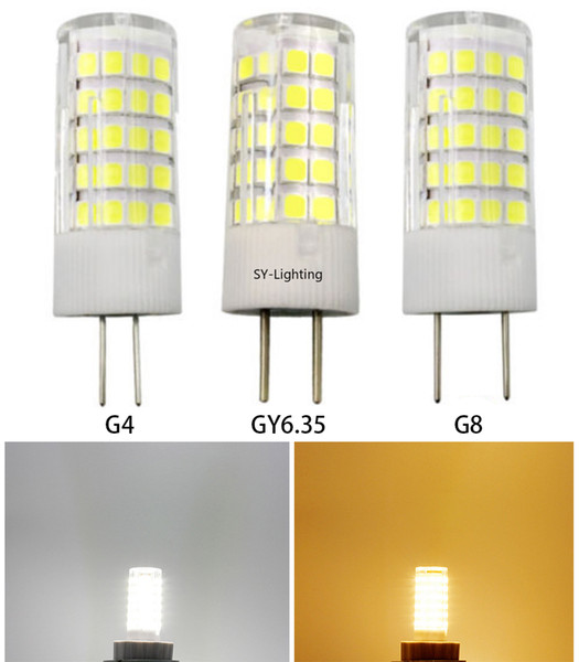 Package of 10, G4/G8/GY6.35 LED Bulb 64-2835 SMD Lamp 12V/110V/220V Ceramics Light White/Warm Equivalent to 30~70W halogen lamp