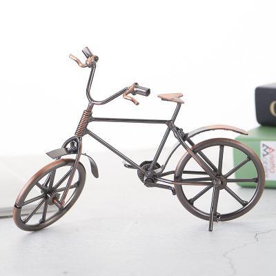 1 PCS 크리 에이 티브 생일 선물 철 자전거 모델 금속 공예 유럽 스타일의 장식 사무실 장식 홈 장식 창 표시 소품