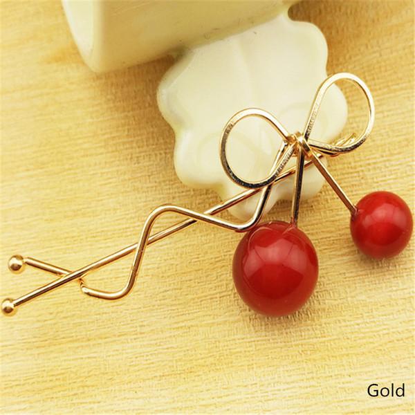 Sweet Hair Clip Romantic Girls Cherry Shaped Bow Hairpin Elegant Twist Headdress Gifts 1 Pc Hair Pin Hairpins for Women