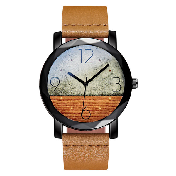 NEW Khaki Sport Men Watch High Quality Leather Woman Man Watch Round Quartz Cool Clock Relogio Masculino for droshipping
