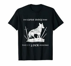 O lobo solitário morre mas o PArriverrive sobrevive ao jogo dos tronos T-shirt de Dire Wolf BlArriverrive