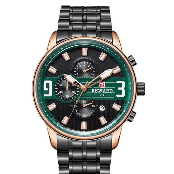 Reloj analógico clásico de cuarzo para hombre Reloj con banda de cuero marrón Relojes de cara grande para hombres Dial con fecha VENTA CALIENTE