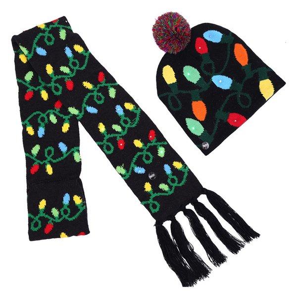 005 LED hat + scarf