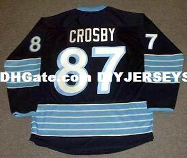 Mens,Womens,Kids-SIDNEY CROSBY Pittsburgh 2011 Alternate Custom Any Name&No. Hockey Personalized Jerseys Goalit Cut Jerseys