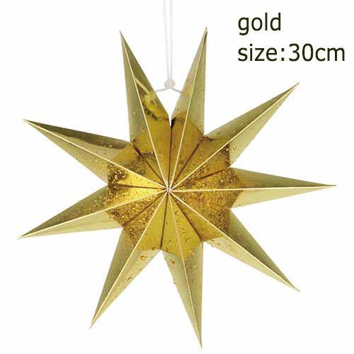 9 angles 30cm doré