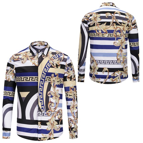 best selling Fashion Men's Dress Shirts Mens Business Designer Shirts Casual Shirt Men Long Sleeved Luxury Medusa Fancy Slim Fit Shirts