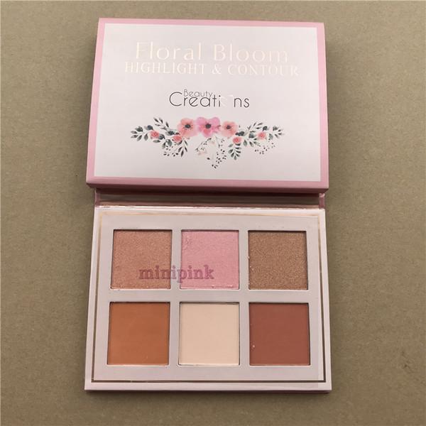 2019 Nova Paleta de Maquiagem Floral Bloom HighlighterContour Blush paleta Da Sombra de olho 6 cores blush / highter 12 cores sombra flor de olho DHL