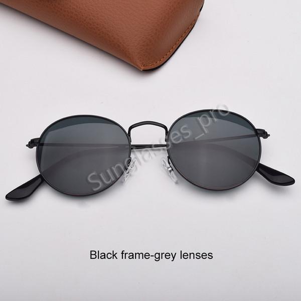 Черные рамки-серые линзы