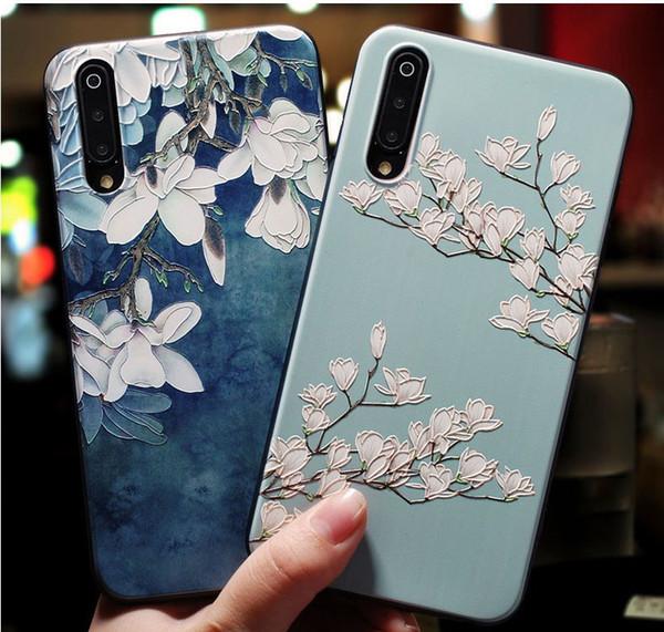3D Flowers Case For Xiaomi Mi 8 9 5 6 5X Redmi 5 Plus Mi8 Mi9 Mi5 Mi6 Cover Soft Silicone Rubber Cute