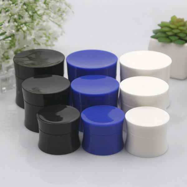 15g/30g/50g Empty Black Tight Waist Container.Empty Travel PP Facial Cream Jar.Cosmetic Plastic Box.Cosmetic Packaging