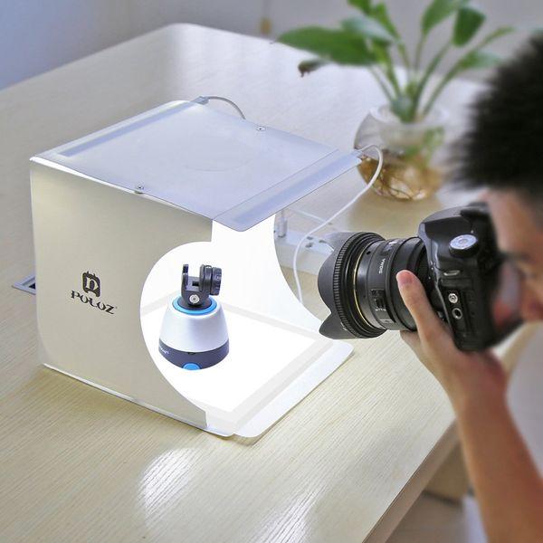 PULUZ Mini LED Fotografie Leuchtkasten Shadowless Bottom Light Panel Pad 2 LED-Panels Fotostudio-Zubehör Shooting Tent Box