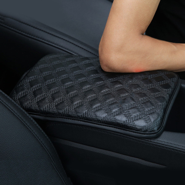 1pc 30*21cm Universal Car Armrest Pad Cover, Automobiles Car Center Console Armrest Cover PU Leather Cushion Protector