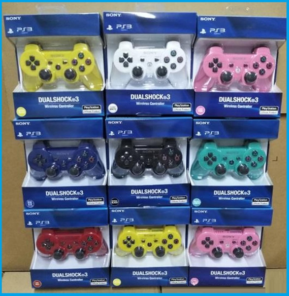 High quality Controllers Wireless Controller Game Controllers Double Shock for PS3 portable video game palyer Game Console DHLFREE