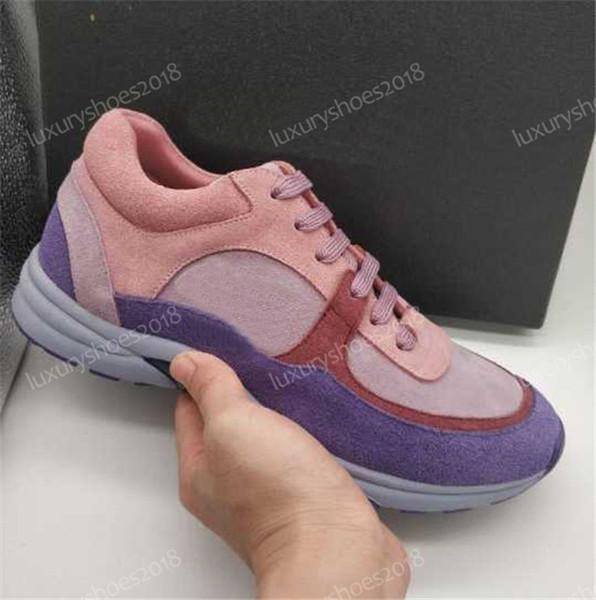 2018 nuove scarpe casual in pelle scamosciata di lusso scarpe da donna progettista scarpe da ginnastica chiare scarpe da tennis moda misti di colore misto tennis da uomo