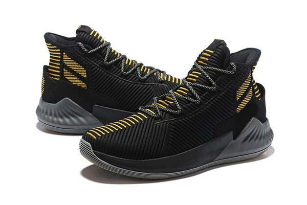 D Rose 9 Black Gold shoes for sale Top Quality new Derrick Rose Basketball shoes store free shipping US7-US12