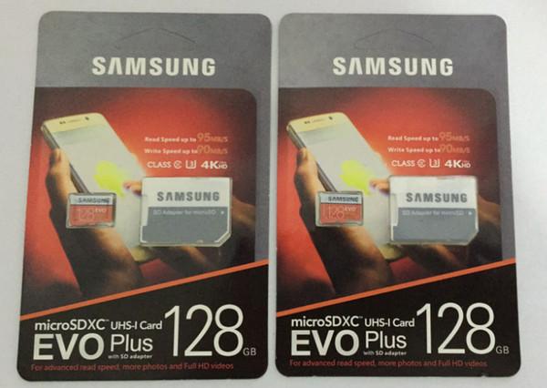 8G / 16GB / 32GB / 64GB / 128GB / 256GB di Samsung EVO + Più Micro SD card U3 / smartphone TF card C10 / Tablet PC SDXC bagagli carta di 95MB / S