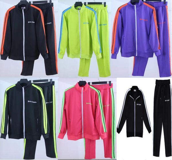 Yeni Palmiye Melekler ceket Kadın Erkek Yüksek Kalite Sonbahar Kış Streetwear Casaul Palmiye Melekler PA gökkuşağı Özel İpli ceket S-XL