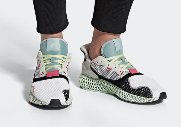 Wholesale zx4000 Futurecraft 4D ZX 4000 alphaedge y3 4D Futurecraft mens running shoes Men Women brand sneakers black white Grey