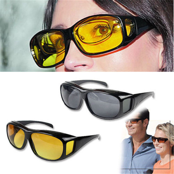 Lunettes de soleil de conduite LongKeeper HD jaunes à la mode anti-uv Night Vision pour les pilotes hommes / femmes