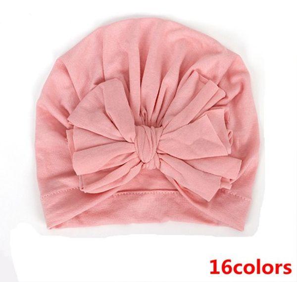 2019 baby beanie hats wholesale fashion big bowknot hat caps kids turban twist accessories for girls hair bows infant cotton bonnets soft