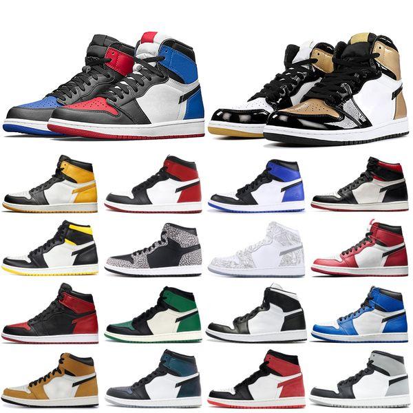 Nike air jordon retro 2019 1s basket-ball pour hommes Les plus populaires Obsidienne élevée UNC Recrue de l'année de Turbo Green Black Gym Rouge Formateurs de créateurs