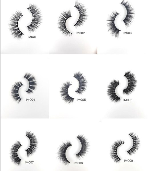 2019 New 25mm Long Individual Sexy False Eyelashes Mink Lashes Better 3D Mink Eyelash Soft Natural Thick Cross BeautyLashes Strip Handmade