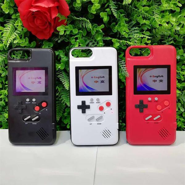 Caja del teléfono de la consola de juegos retro portátil, compatible con iPhone 6 / 6s / 7/8 más x xx xs max